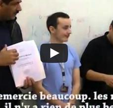 Video – Remise du livre de français en braille