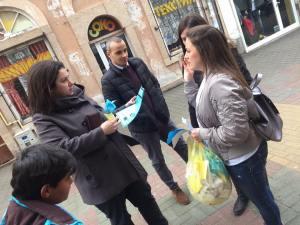 sensibilisation aux violences domestiques dans le cadre du projet Erasmus+ Tulip Revolution à Plovdiv, en Roumanie