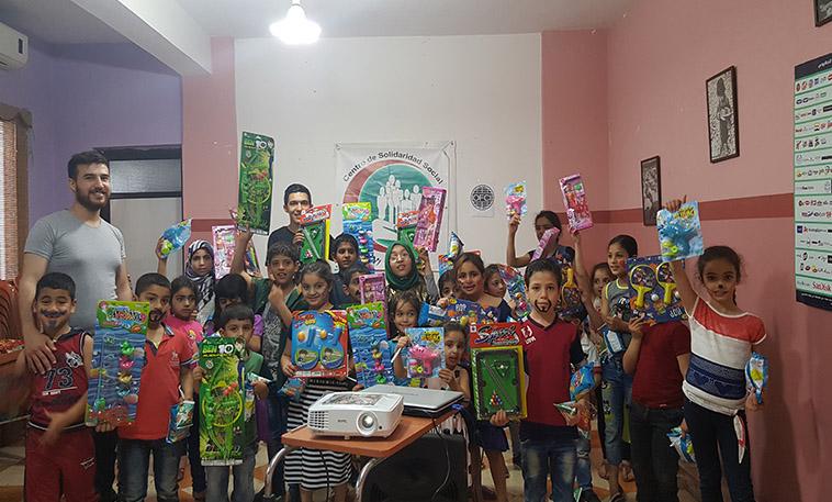 enfants palestiniens réfugiés au Liban qui participent à notre projet socio éducatif